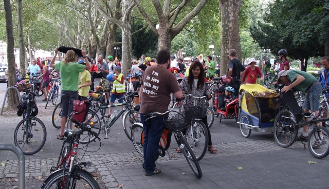 Start zur Critical Mass in Dortmund am 9. August