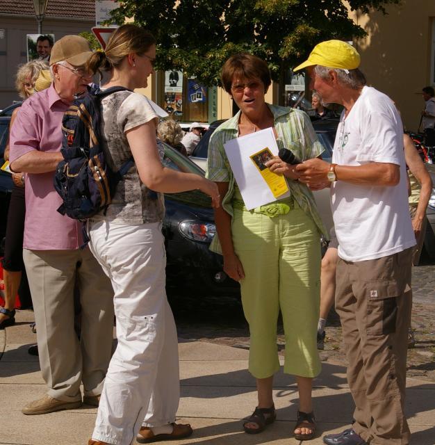 Gespräch mit Vetreterin der Agenda 21 Kremmen und mit der stellv. Bürgermeisterin
