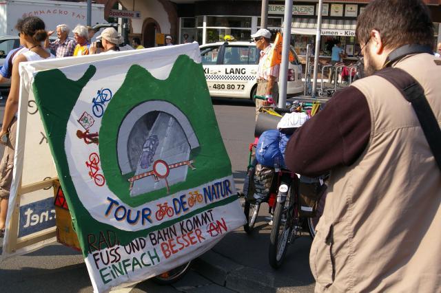 Tour de Natur 2008 - Banner am Hänger